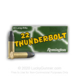 Image of 22 LR Ammo For Sale - 40 gr LRN - Remington Thunderbolt Ammunition In Stock - 5000 Rounds