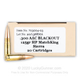 Image of Premium 300 AAC Blackout Ammo For Sale - 125 Grain OTM Ammunition in Stock by Red Mountain Arsenal - 20 Rounds