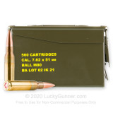 Image of Bulk 7.62x51 Ammo For Sale - 147 Grain FMJ M80 Ammunition in Stock by Igman - 560 Rounds in Ammo Can
