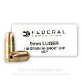 Image of Defensive 9mm Ammo For Sale - 115 gr JHP - Federal Classic Personal Defense Ammunition In Stock