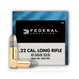 Image of 22 LR Ammo For Sale - 40 gr solid or LRN Ammunition by Federal Champion In Stock