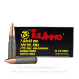 Image of Bulk 7.62X39mm Ammo For Sale - 122 Grain FMJ Ammunition in Stock by Tula Ammo - 1000 Rounds