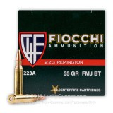 Image of 223 Rem - 55 gr FMJ - Fiocchi - 1000 Rounds