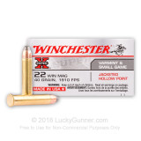 Image of 22 WMR Ammo For Sale - 40 gr JHP - Winchester 22 Magnum Rimfire Ammunition In Stock - 50 Rounds