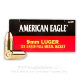 Image of 9mm Ammo For Sale - 124 gr FMJ - Federal American Eagle (1000 rounds)