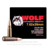 Image of Bulk Wolf Performance Ammo - 7.62x39 123 grain FMJ Ammo - 1000 Rounds